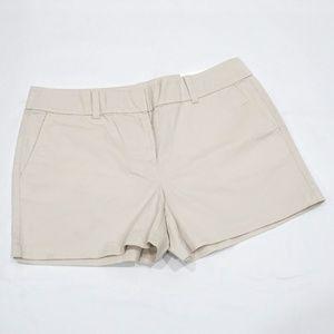 LOFT Beige Khaki 4 inch Inseam Shorts NWT